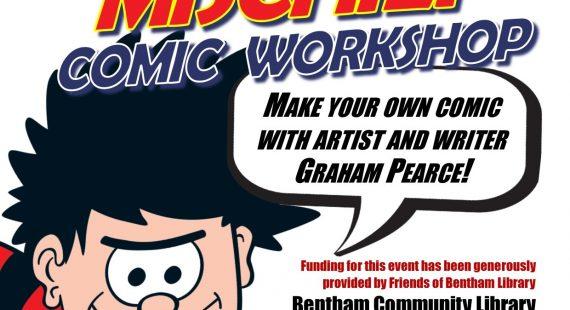 Making Mischief Comic Workshop 7 – 11 year olds